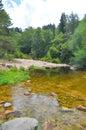 Mountain river rocks in Villa General Belgrano, Cordoba Province