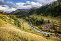 Mountain river valley Royalty Free Stock Photo
