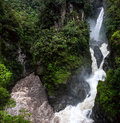 Mountain river and waterfall in the andes paílón del diablo banos ecuador Royalty Free Stock Photography