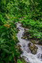 Mountain river with waterfalls. HDR. Royalty Free Stock Photo