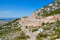 Mountain road, croatia Royalty Free Stock Photography