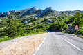 Mountain road in croatia Royalty Free Stock Photography