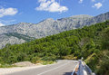 Mountain road in dalmatia croatia Royalty Free Stock Images