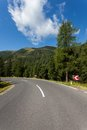 Mountain road empty austria europe Stock Photography
