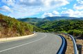 Mountain road fragment of the sardinia italy Royalty Free Stock Photography