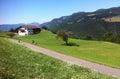 Mountain road in Italian Alps Royalty Free Stock Photo