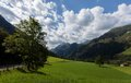 Mountain road kaprun austria Royalty Free Stock Photography