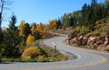 Mountain road located in the sangre de cristo mountains in new mexico Royalty Free Stock Image