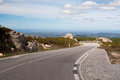 Mountain road  in the Serra de Monchique in  Portugal Stock Image