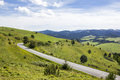 Mountain road in the Slovak Pieniny, Slovakia