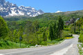 Mountain road in the spanish pyrenees is photographed neighborhood of panticosa Stock Photography