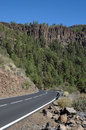 Mountain Road. Tenerife Spain Royalty Free Stock Photos