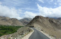 Mountain road to india pakistan border in northen india at the sunny day Stock Photos