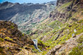 Mountain road to masca village in teno mountains tenerife spa canary islands spain Stock Photo