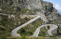 Mountain road to sa calobra in serra de tramuntana mountains in mallorca spain Royalty Free Stock Photos