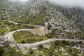 Mountain road to sa calobra in serra de tramuntana mountains on mallorca spain Stock Photography