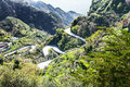 Mountain road to savoca town in sicily spring Royalty Free Stock Photo