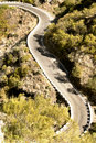 Mountain road to the village Masca Stock Photography