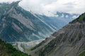The mountain road with valley in Northern India Royalty Free Stock Photo