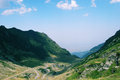 Mountain road view of transfagarasan in a sunny day Royalty Free Stock Photos