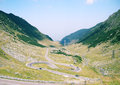 Mountain road view of transfagarasan in a sunny day Royalty Free Stock Images