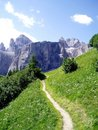 Mountain's path in Dolomiti Royalty Free Stock Photo