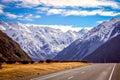Mountain Scenery of New Zealand South Island Royalty Free Stock Photo