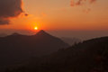 Mountain scenery sunset in nan thailand beautiful Stock Photos