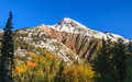 Mountain scenic in fall a landscape of a colorado rocky mountains Stock Photography