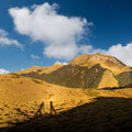 Mountain with shadow Stock Image