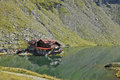 Mountain shed on the lake balea from carpathians Royalty Free Stock Photos
