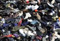 stock image of  Mountain of shoes