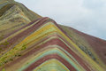 Mountain of Siete Colores near Cuzco Royalty Free Stock Photo