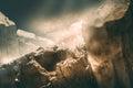 Mountain simulation nature scene