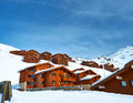 Mountain ski resort with snow in winter val thorens alps france Royalty Free Stock Photos