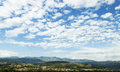 Mountain sky beautiful landscape town and cloudy Stock Image