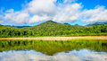 Mountain and sky mirror bluesky nature natural reflection water beautiful place thailand green blue cloud ttzanzone z f Stock Photos