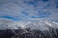 Mountain sky in winter solden Royalty Free Stock Photos