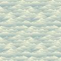 Mountain skyline seamless pattern. Abstract wavy background. Nat
