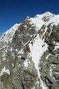 Mountain stone wall Royalty Free Stock Photo