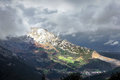 Mountain with stormy clouds basque country Stock Photography