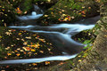 Mountain stream in autumn Stock Image