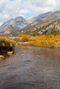 Mountain stream in fall a scenic landscape of a colorado rocky Royalty Free Stock Photography