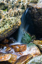 Mountain stream the and waterfall Stock Image