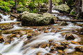 Mountain stream waterfall Royalty Free Stock Photo
