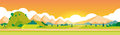 Mountain Summer Landscape Horizontal Banner Royalty Free Stock Photo