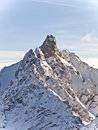 Mountain summit in the alps, Stock Image