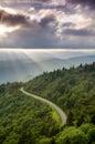 Mountain Sun Rays Landscape Royalty Free Stock Photo