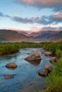Mountain Sunrise at Rocky Mountain national Park Royalty Free Stock Photo
