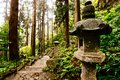 Mountain temple trail walking to yamadera in yamagata japan Royalty Free Stock Photo